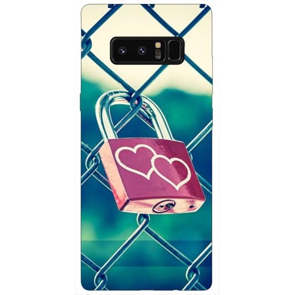 Husa Silicon Soft Upzz Print Samsung Galaxy Note 8 Model Heart Lock imagine itelmobile.ro 2021