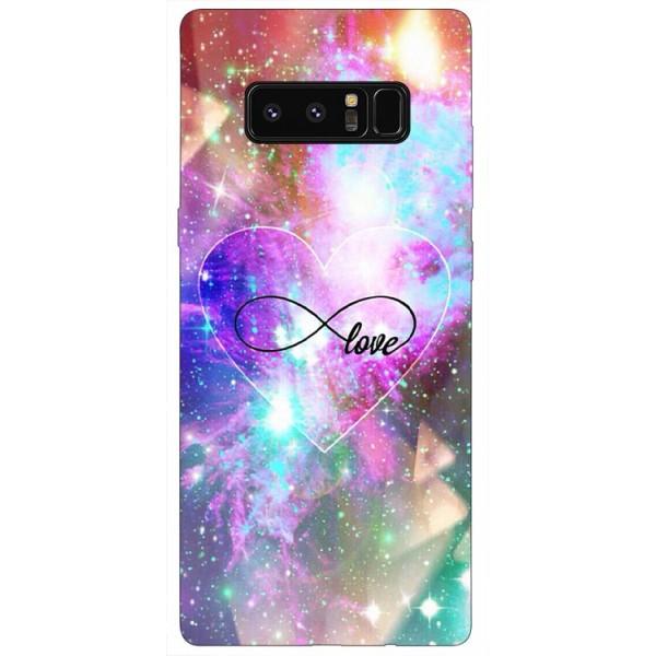 Husa Silicon Soft Upzz Print Samsung Galaxy Note 8 Model Love imagine itelmobile.ro 2021