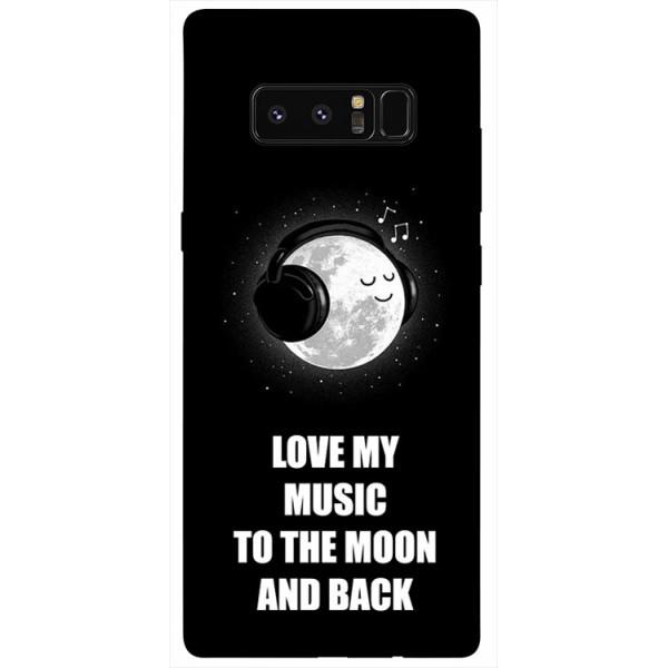 Husa Silicon Soft Upzz Print Samsung Galaxy Note 8 Model Music imagine itelmobile.ro 2021