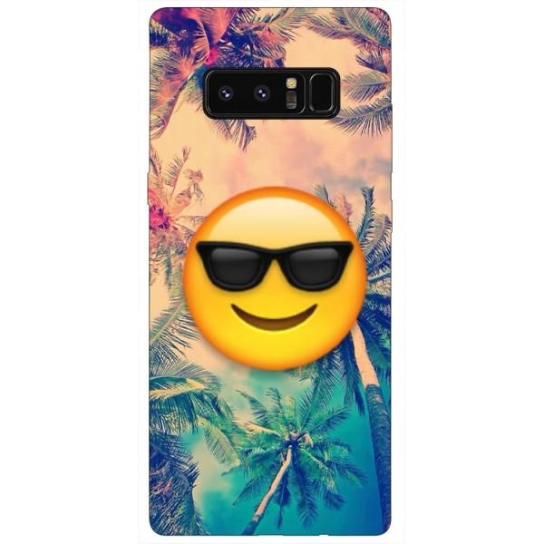 Husa Silicon Soft Upzz Print Samsung Galaxy Note 8 Model Smile imagine itelmobile.ro 2021