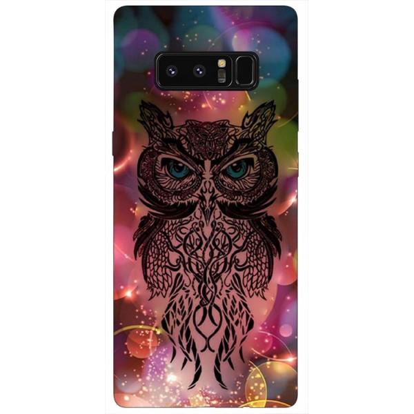 Husa Silicon Soft Upzz Print Samsung Galaxy Note 8 Model Sparkle Owl imagine itelmobile.ro 2021
