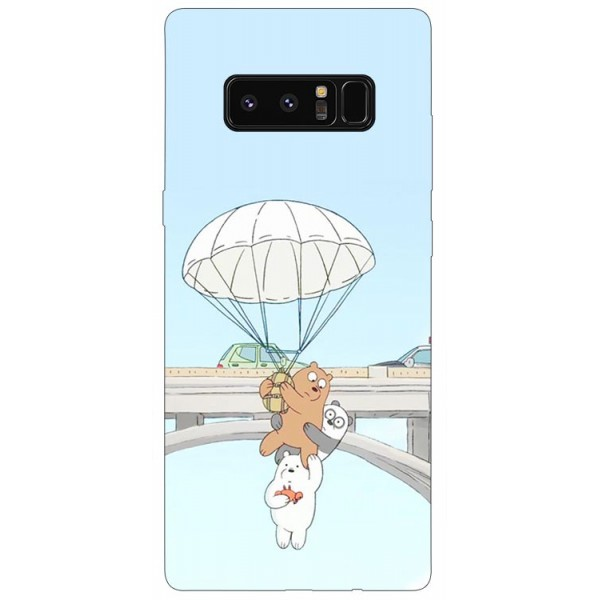 Husa Silicon Soft Upzz Print Samsung Galaxy Note 8 Model Three Bears imagine itelmobile.ro 2021