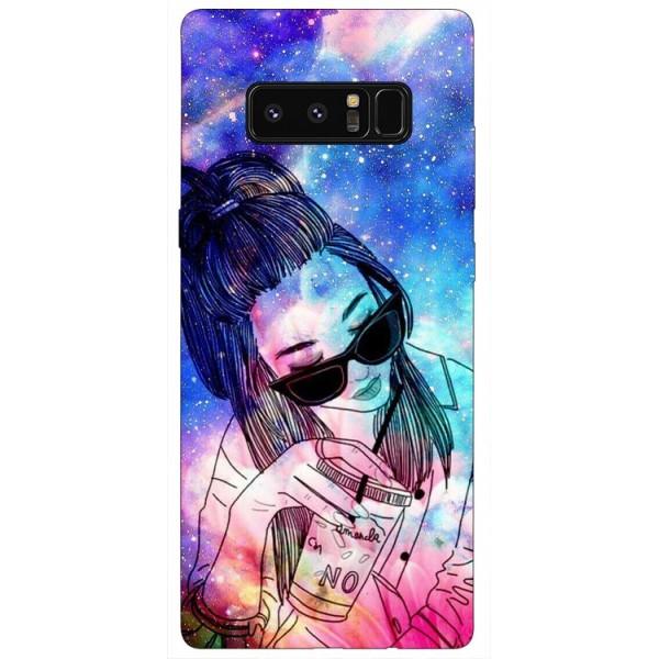 Husa Silicon Soft Upzz Print Samsung Galaxy Note 8 Model Universe Girl imagine itelmobile.ro 2021