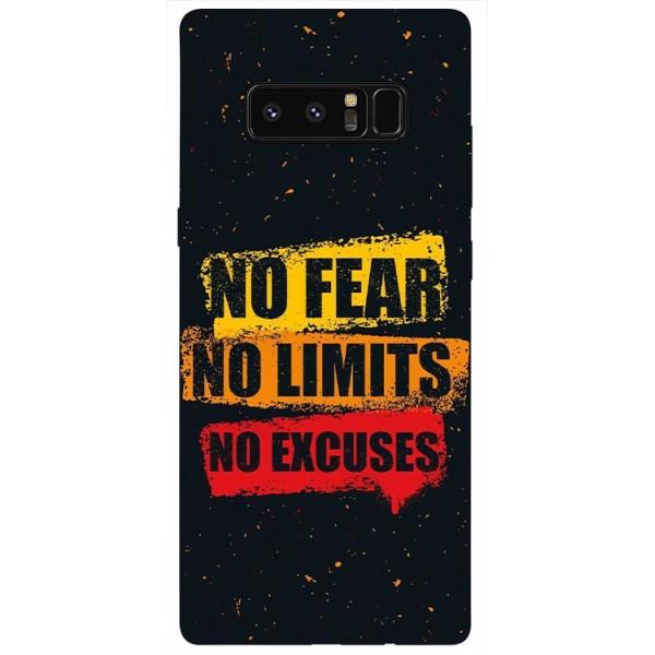 Husa Silicon Soft Upzz Print Samsung Galaxy Note 8 Model No Fear imagine itelmobile.ro 2021