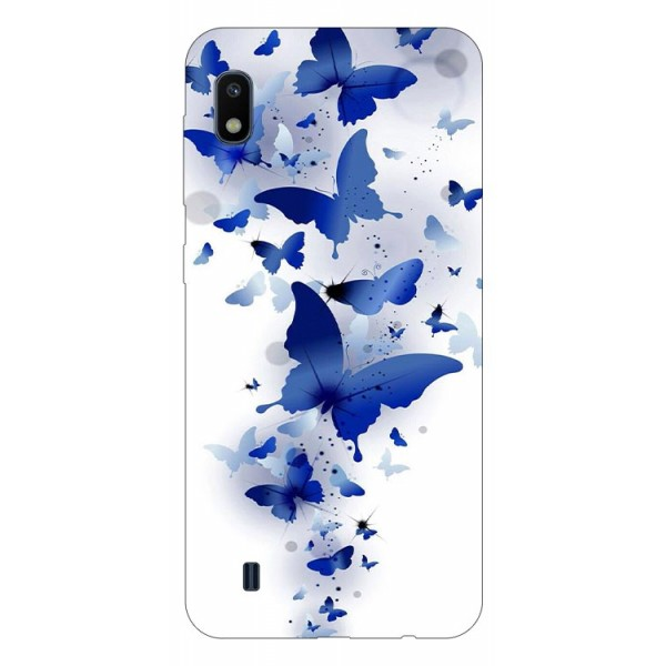 Husa Silicon Soft Upzz Print Samsung Galaxy A10 Model Blue Butterflies imagine itelmobile.ro 2021