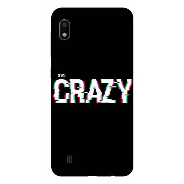 Husa Silicon Soft Upzz Print Samsung Galaxy A10 Model Crazy imagine itelmobile.ro 2021