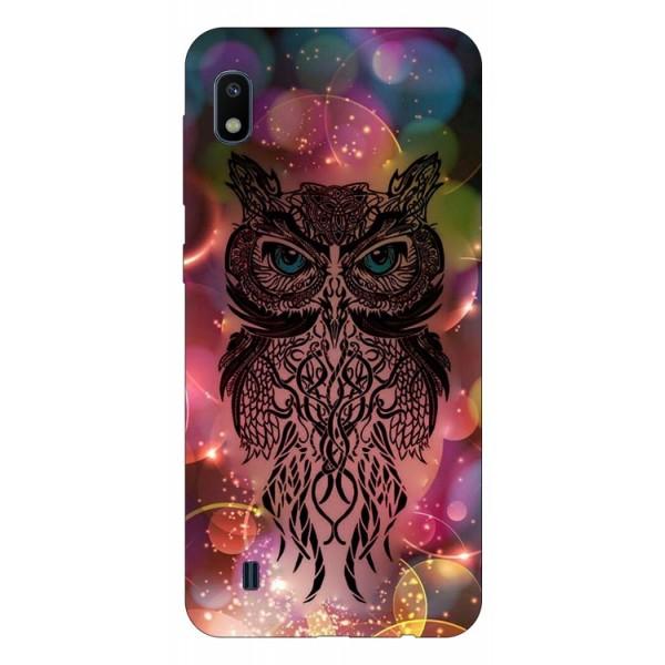 Husa Silicon Soft Upzz Print Samsung Galaxy A10 Model Sparkle Owl imagine itelmobile.ro 2021