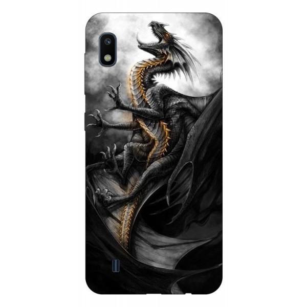 Husa Silicon Soft Upzz Print Samsung Galaxy A10 Model Dragon 1 imagine itelmobile.ro 2021