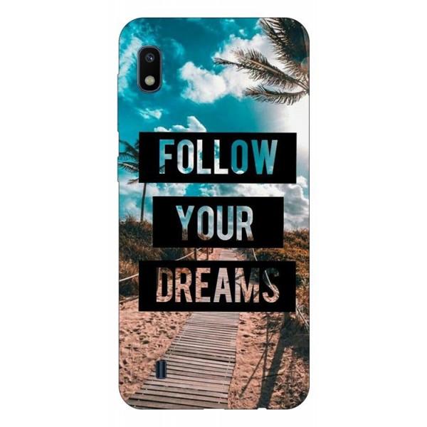 Husa Silicon Soft Upzz Print Samsung Galaxy A10 Model Dreams imagine itelmobile.ro 2021