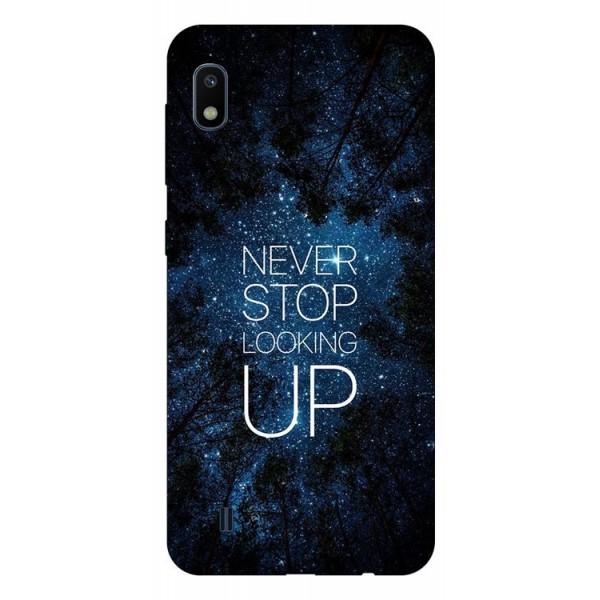 Husa Silicon Soft Upzz Print Samsung Galaxy A10 Model Never Stop imagine itelmobile.ro 2021