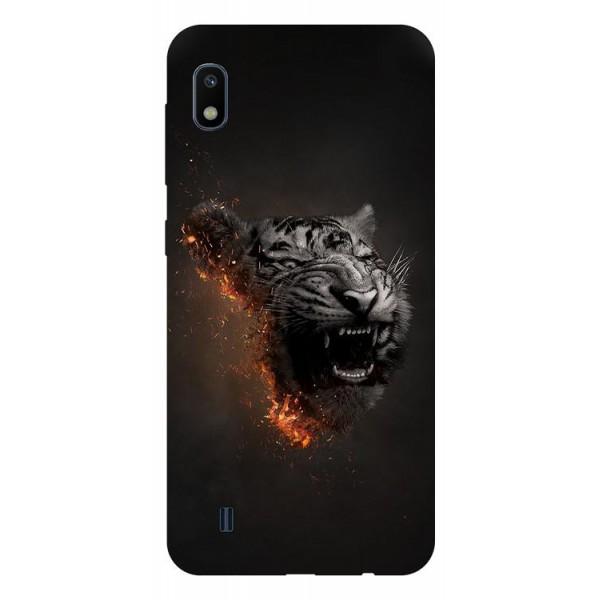 Husa Silicon Soft Upzz Print Samsung Galaxy A10 Model Tiger imagine itelmobile.ro 2021
