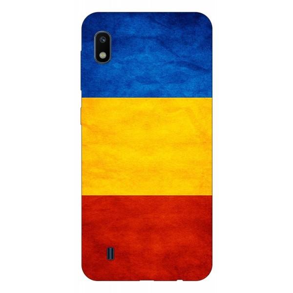 Husa Silicon Soft Upzz Print Samsung Galaxy A10 Model Tricolor imagine itelmobile.ro 2021