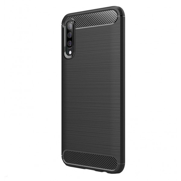 Husa Spate Forcell Carbon Pro Samsung Galaxy A70 Negru Silicon imagine itelmobile.ro 2021
