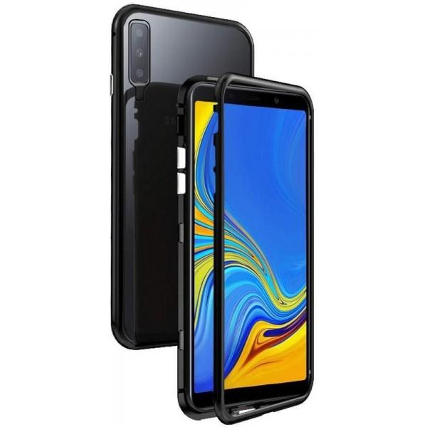 Husa Premium Magneto Glass Upzz Pro Samsung Galaxy A50 Negru Cu Spate Transparent imagine itelmobile.ro 2021