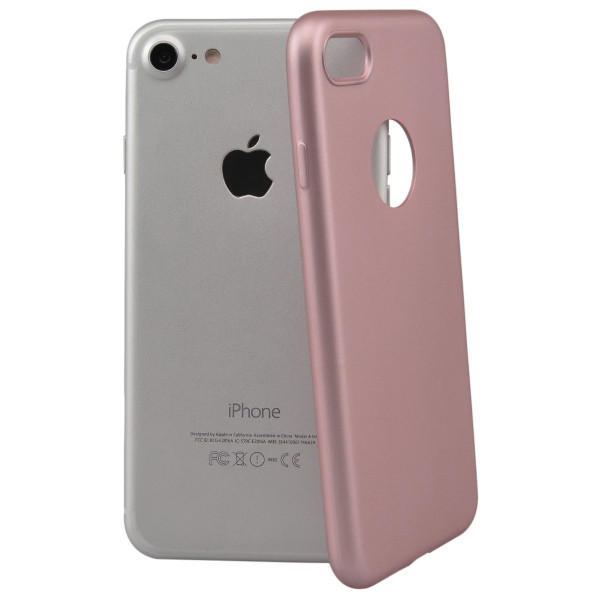 Husa Lux Soft Silicon Upzz iPhone 7 Roz Gold