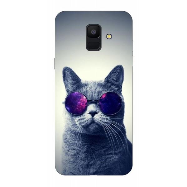 Husa Silicon Soft Upzz Print Samsung A6 2018 Model Cool Cat imagine itelmobile.ro 2021