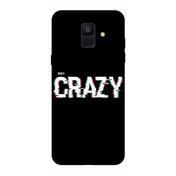 Husa Silicon Soft Upzz Print Samsung A6 2018 Model Crazy imagine itelmobile.ro 2021