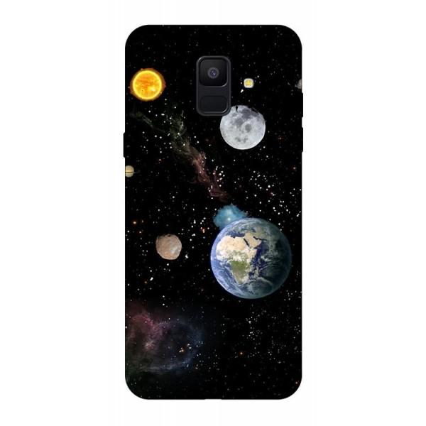 Husa Silicon Soft Upzz Print Samsung A6 2018 Model Earth imagine itelmobile.ro 2021