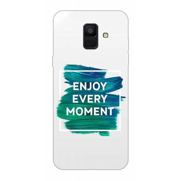 Husa Silicon Soft Upzz Print Samsung A6 2018 Model Enjoy imagine itelmobile.ro 2021