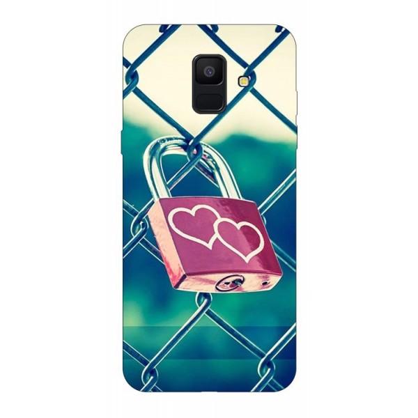 Husa Silicon Soft Upzz Print Samsung A6 2018 Model Heart Lock imagine itelmobile.ro 2021