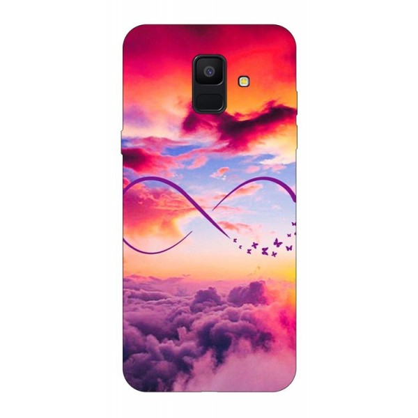 Husa Silicon Soft Upzz Print Samsung A6 2018 Model Infinity imagine itelmobile.ro 2021