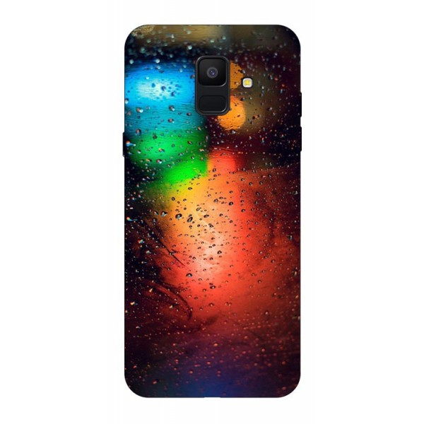 Husa Silicon Soft Upzz Print Samsung A6 2018 Model Multicolor imagine itelmobile.ro 2021