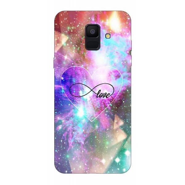 Husa Silicon Soft Upzz Print Samsung A6 2018 Model Neon Love imagine itelmobile.ro 2021