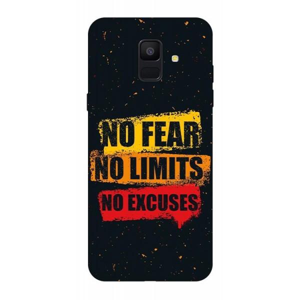 Husa Silicon Soft Upzz Print Samsung A6 2018 Model No Fear imagine itelmobile.ro 2021