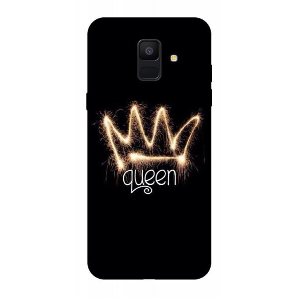 Husa Silicon Soft Upzz Print Samsung A6 2018 Model Queen imagine itelmobile.ro 2021