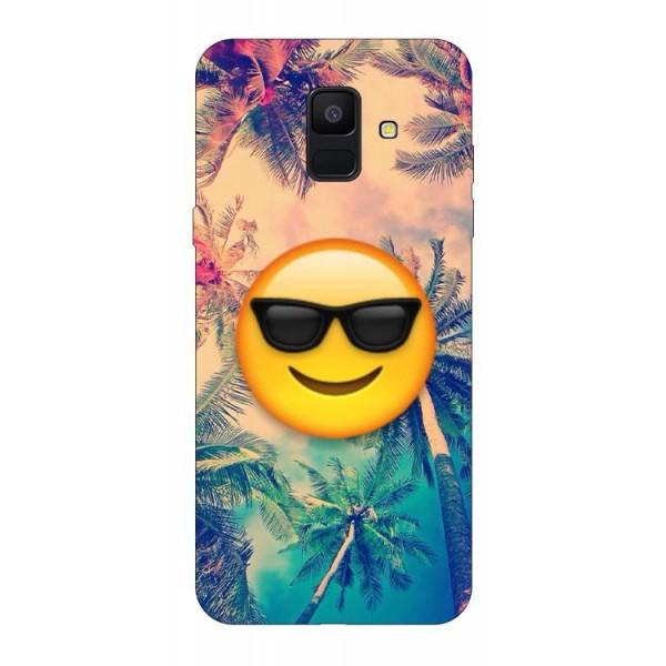 Husa Silicon Soft Upzz Print Samsung A6 2018 Model Smile imagine itelmobile.ro 2021
