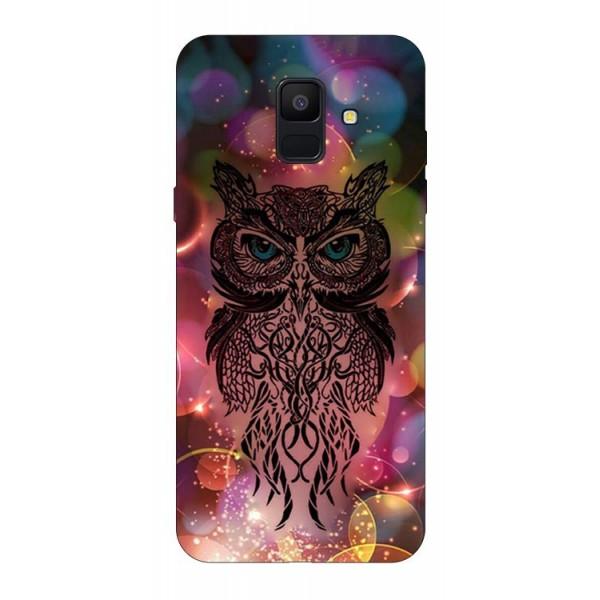 Husa Silicon Soft Upzz Print Samsung A6 2018 Model Sparkle Owl imagine itelmobile.ro 2021