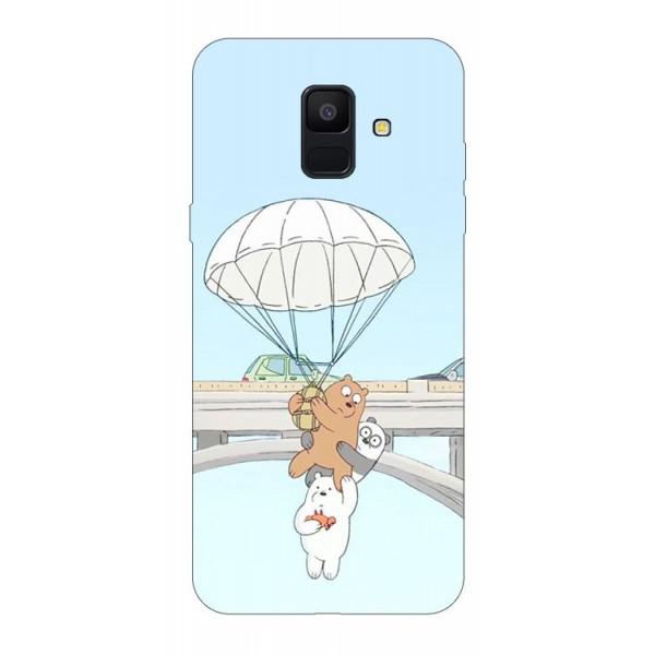 Husa Silicon Soft Upzz Print Samsung A6 2018 Model Three Bears imagine itelmobile.ro 2021