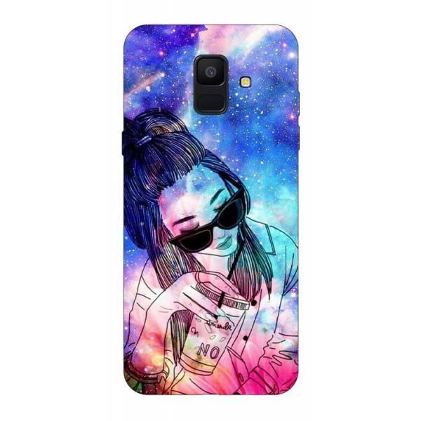 Husa Silicon Soft Upzz Print Samsung A6 2018 Model Universe Girl imagine itelmobile.ro 2021