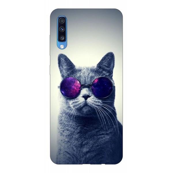 Husa Silicon Soft Upzz Print Samsung A70 Model Cool Cat imagine itelmobile.ro 2021