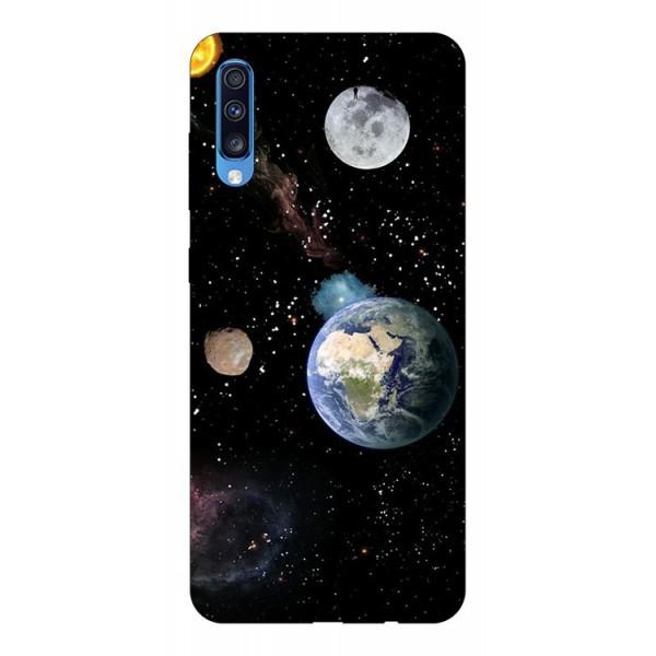 Husa Silicon Soft Upzz Print Samsung A70 Model Earth imagine itelmobile.ro 2021