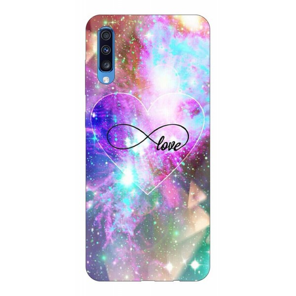 Husa Silicon Soft Upzz Print Samsung A70 Model Neon Love imagine itelmobile.ro 2021