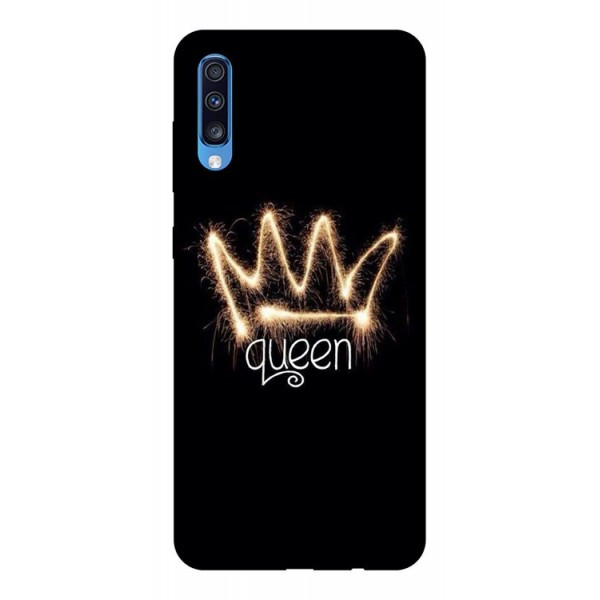 Husa Silicon Soft Upzz Print Samsung A70 Model Queen imagine itelmobile.ro 2021