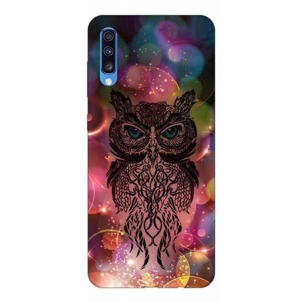 Husa Silicon Soft Upzz Print Samsung A70 Model Sparkle Owl imagine itelmobile.ro 2021