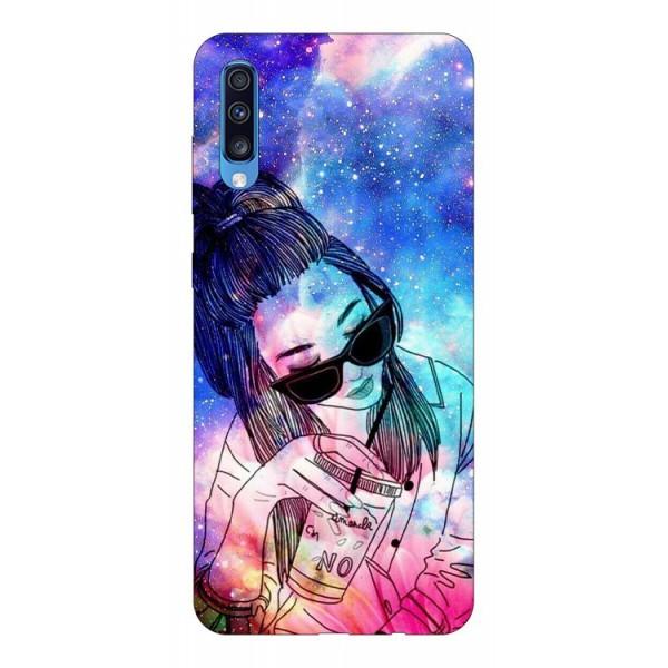 Husa Silicon Soft Upzz Print Samsung A70 Model Universe Girl imagine itelmobile.ro 2021