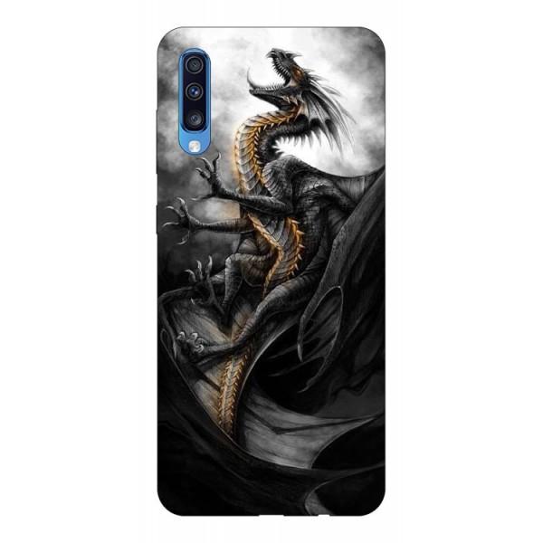 Husa Silicon Soft Upzz Print Samsung A70 Model Dragon 1 imagine itelmobile.ro 2021