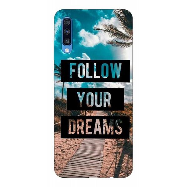 Husa Silicon Soft Upzz Print Samsung A70 Model Dreams imagine itelmobile.ro 2021