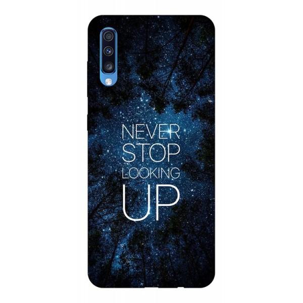 Husa Silicon Soft Upzz Print Samsung A70 Model Never Stop imagine itelmobile.ro 2021