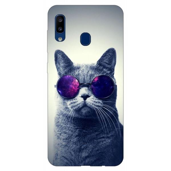 Husa Silicon Soft Upzz Print Samsung Galaxy A20 Model Cool Cat imagine itelmobile.ro 2021