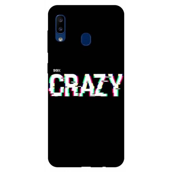 Husa Silicon Soft Upzz Print Samsung Galaxy A20 Model Crazy imagine itelmobile.ro 2021