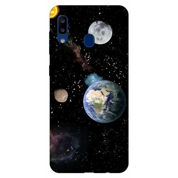 Husa Silicon Soft Upzz Print Samsung Galaxy A20 Model Earth imagine itelmobile.ro 2021