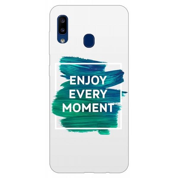 Husa Silicon Soft Upzz Print Samsung Galaxy A20 Model Enjoy imagine itelmobile.ro 2021