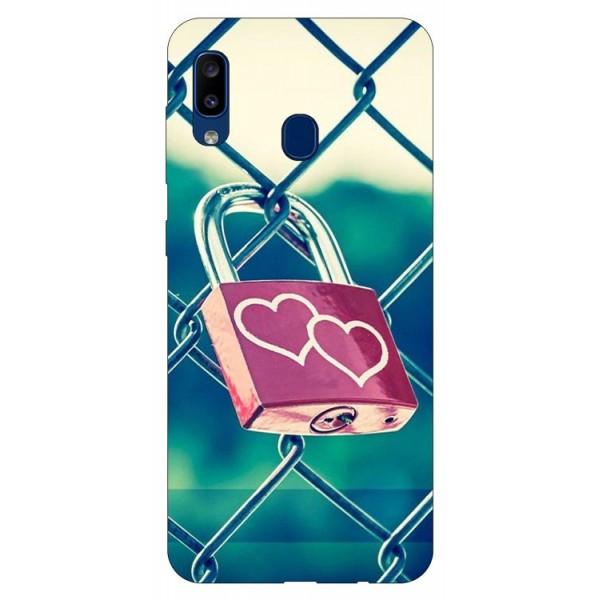 Husa Silicon Soft Upzz Print Samsung Galaxy A20 Model Heart Lock imagine itelmobile.ro 2021