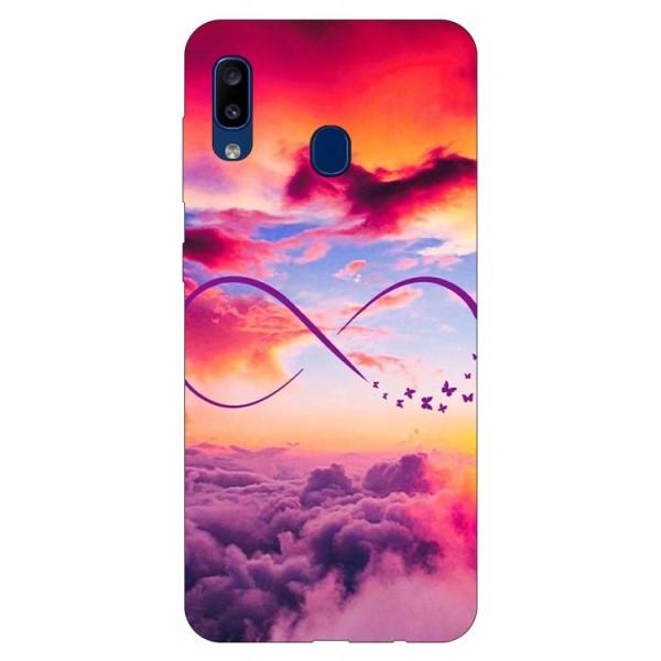Husa Silicon Soft Upzz Print Samsung Galaxy A20 Model Infinity imagine itelmobile.ro 2021