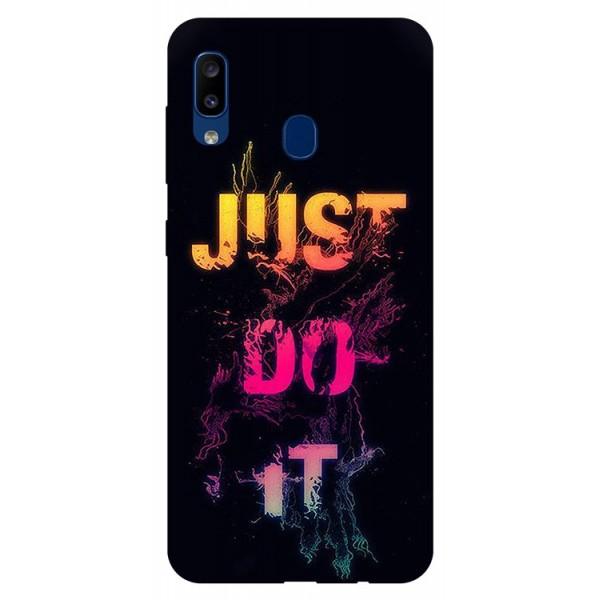 Husa Silicon Soft Upzz Print Samsung Galaxy A20 Model Jdi imagine itelmobile.ro 2021