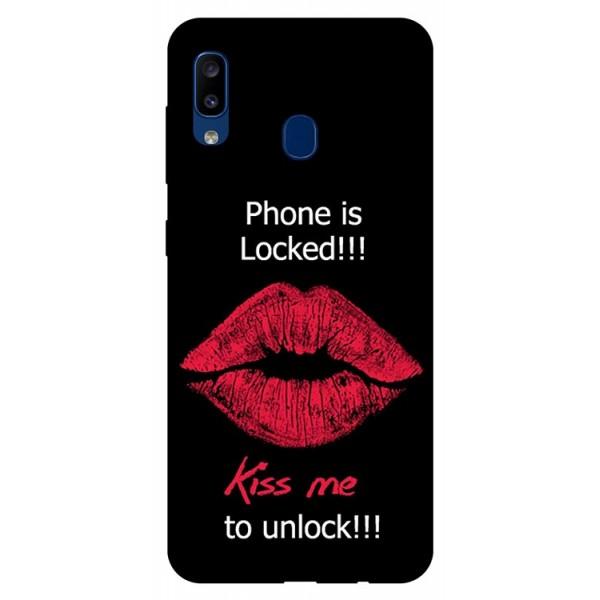 Husa Silicon Soft Upzz Print Samsung Galaxy A20 Model Kiss imagine itelmobile.ro 2021